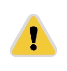 Alert symbol isolated icon vector