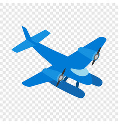 blue small plane isometric icon vector image