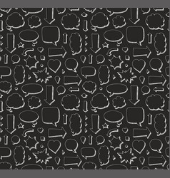 Hand drawn seamless pattern of speech bubbles vector