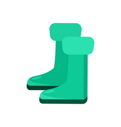 Garden rubber boots isolated icon vector