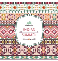 Seamless pattern in native american style vector image
