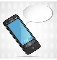 Smartphone with speech-bubble eps10 vector