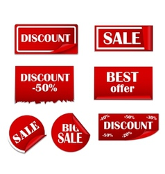 Sale sticker banner template set vector