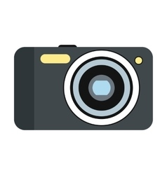 New camera flat icon vector