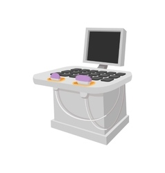 Medical ultrasound diagnostic machine cartoon icon vector
