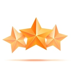 Three 3d gold stars premium the best reward vector