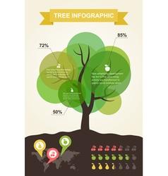 Tree infographics vector