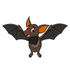 Funny bat cartoon posing stand vector