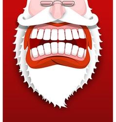 Aggressive Santa Claus shouts Unhappy Santa with vector image vector image