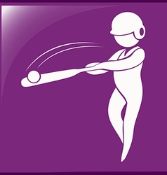 Baseball icon on purple background vector image