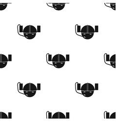 Beer helmet icon in black style isolated on white vector
