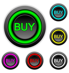 Buy buttons set vector image