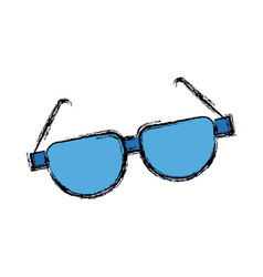 Cartoon sunglasses acessory fashion optical vector