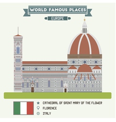 Cathedral of Saint Mary of the Flower Florence vector image