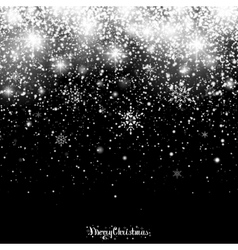 Christmas sparkling transparent snowfall vector
