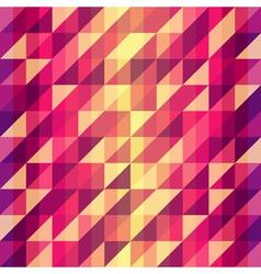 Colorful geometric Retro pattern vector image
