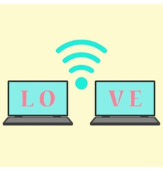 concept of communication in love vector image vector image