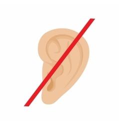 Deaf mute icon cartoon style vector
