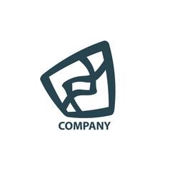 Design geometric logo vector