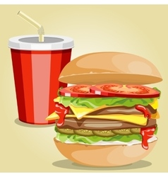 fast food picture vector image