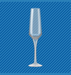 flute glass concept background realistic style vector image