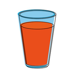 Juice glass isolated vector