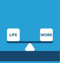 Life and work balance vector