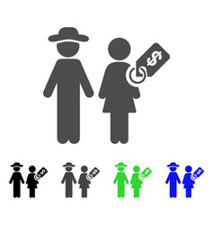 Marriage of convenience icon vector