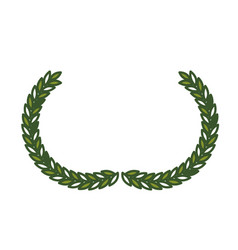 Olive half crown in green color vector