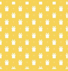 seamless pattern background with gift boxes vector image