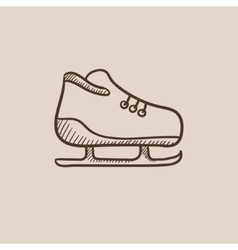 Skate sketch icon vector image