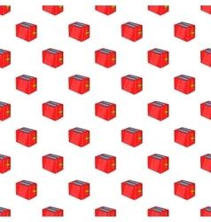 Toaster pattern cartoon style vector