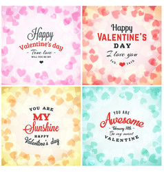 valentines day greeting card or poster design vector image