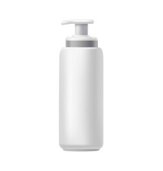 White bottle with dispenser vector
