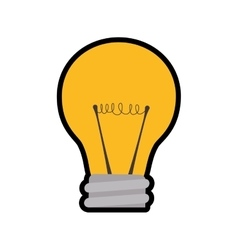 Light bulb energy power illumination icon vector