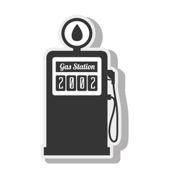 Station gasoline diesel indrustry isolated vector