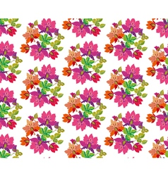 Seamless pattern of fairytale pink flowers vector