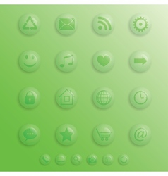 Drop-buttons vector