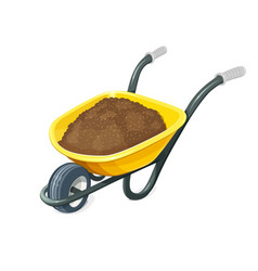 wheelbarrow with ground vector image