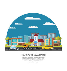 Car assistance and rescue template vector