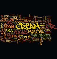 Matcha crepe text background word cloud concept vector