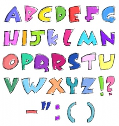 sketchy letters vector image