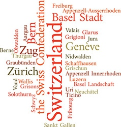Swiss cantons vector