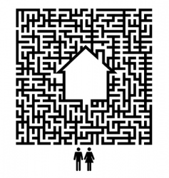 residents maze vector image