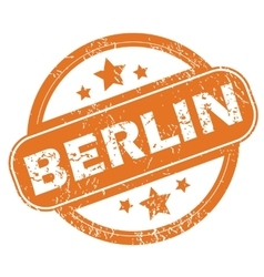 Berlin round stamp vector