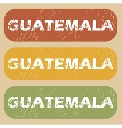 Vintage guatemala stamp set vector
