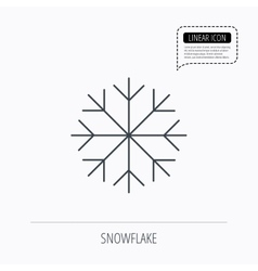 Snowflake icon snow sign air conditioning vector