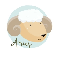 Nice aries horoscope sign vector