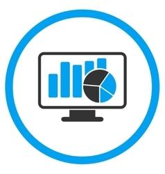 Statistics flat icon vector