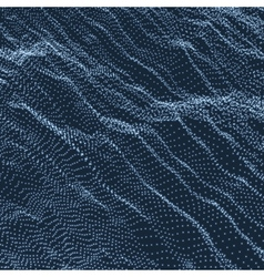 Wave grid background ripple grid technology style vector